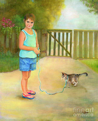 Painting - Come Along Kitty by Marlene Book