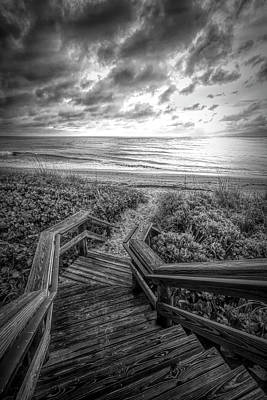 Photograph - Come Down To The Sea In Black And White by Debra and Dave Vanderlaan