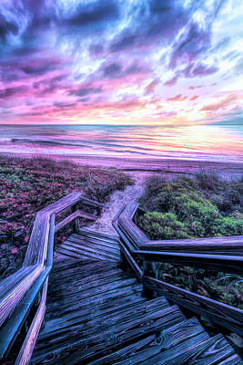 Photograph - Come Down To The Sea On A Cool Morning by Debra and Dave Vanderlaan