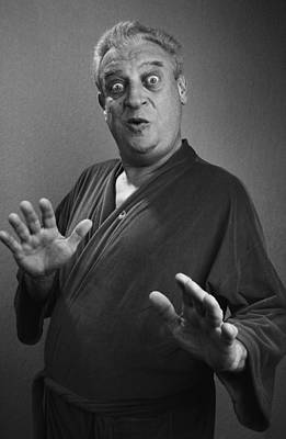 Photograph - Comedian Rodney Dangerfield Portrait by George Rose