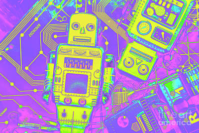 Royalty-Free and Rights-Managed Images - Comic circuitry robots by Jorgo Photography