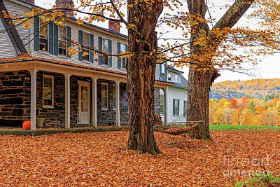 Photograph - Coming Home Vermont  by Edward Fielding