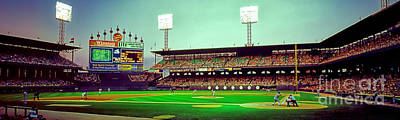 Photograph - Comiskey Park Third And Home  by Tom Jelen