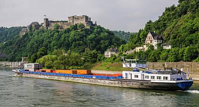 Commerce Along The Rhine Art Print
