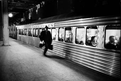 Photograph - Commuter On The New York New Haven Line by Alfred Eisenstaedt