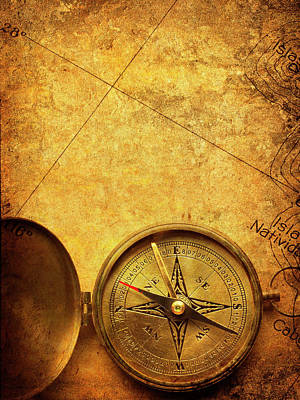 Topography Wall Art - Photograph - Compass by Dny59