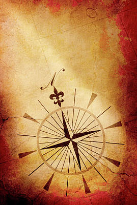 Topography Wall Art - Photograph - Compass Rose by Dny59