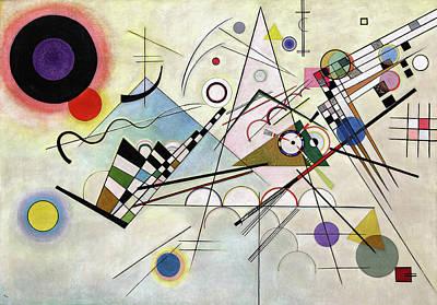 Kandinsky Wall Art - Painting - Composition 8 - Komposition 8 by Wassily Kandinsky