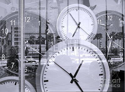 Photograph - Conceptual Image Of Time by Yali Shi