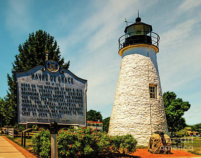 Photograph - Concord Point Light In Maryland by Nick Zelinsky