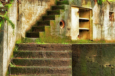 Photograph - Concrete Weathered Stairway by Dee Browning