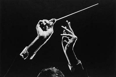 Holding Photograph - Conductor by Mel Curtis