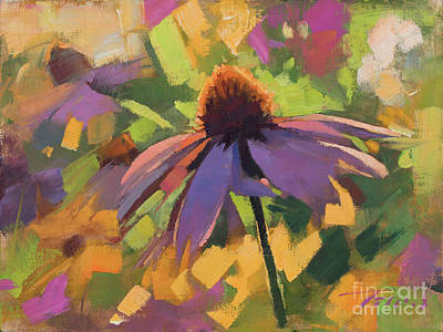 Painting - Coneflower by Patrick Saunders