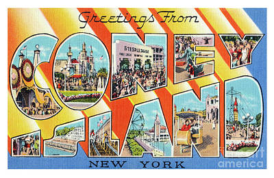 Photograph - Coney Island Greetings - Version 1 by Mark Miller