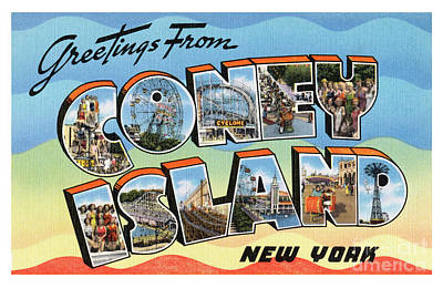 Photograph - Coney Island Greetings - Version 2 by Mark Miller