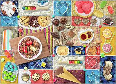 Digital Art - Confections Collage by Linda Carruth