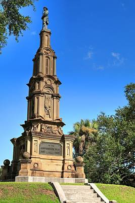 Photograph - Confederate War Memorial Savannah Georgia by Carol Montoya