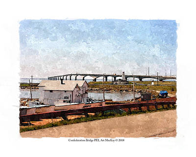 Digital Art - Confederation Bridge Pei 1 by Art MacKay