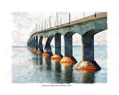Digital Art - Confederation Bridge, Pei 2 by Art MacKay
