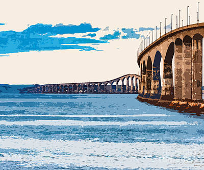 Digital Art - Confederation Bridge, Pei 4 by Art MacKay