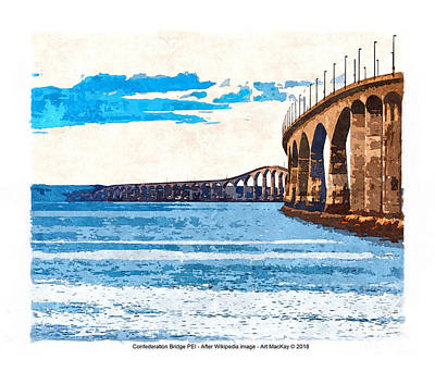 Digital Art - Confederation Bridge, Pei 5 by Art MacKay