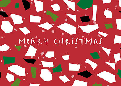 Digital Art - Confetti Christmas- Art By Linda Woods by Linda Woods