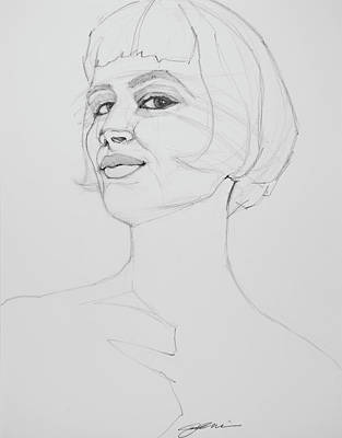 Drawing - Confidence by Jani Freimann