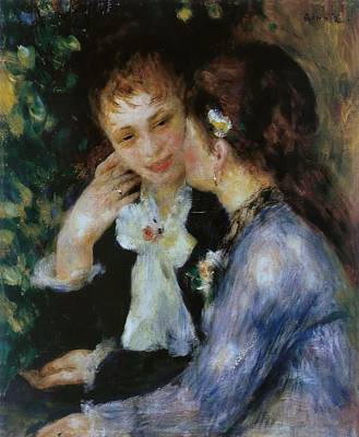 Nighttime Street Photography - Confidences 1878 by Pierre Auguste Renoir