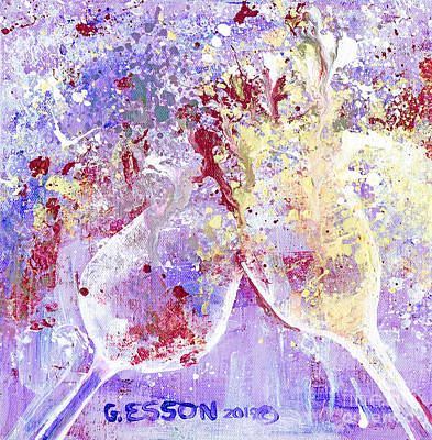 Surrealism Royalty Free Images - Conflict Red Versus White Royalty-Free Image by Genevieve Esson