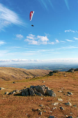 Mixed Media - Coniston Paraglider by Smart Aviation