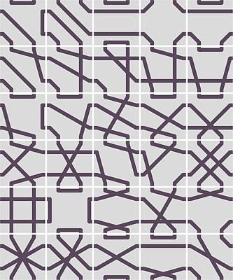 Digital Art - Connect 2 Mono Grid by REVAD David Riley