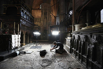 Confessions Photograph - Conservation Staff At Westminster Abbey by Oli Scarff