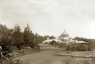 Photograph - Conservatory Golden Gate Park  San Francisco Circa 1887 by California Views Archives Mr Pat Hathaway Archives