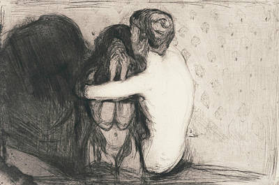 Relief - Consolation by Edvard Munch