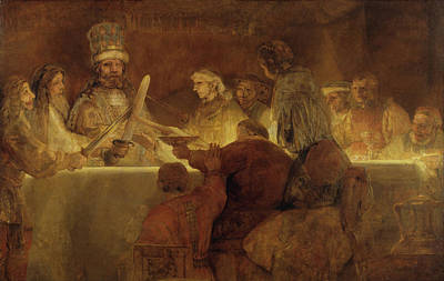 Painting - Conspiracy Of The Batavians Under Claudius Civilis  by Rembrandt