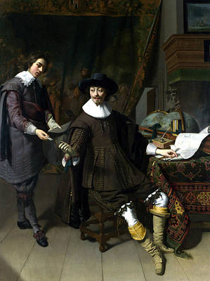 Painting - Constantijn Huygens And His Clerk by Thomas de Keyser