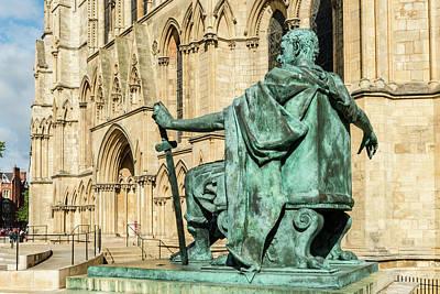 Photograph - Constantine Statue, York Minster by David Ross