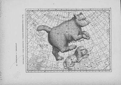 Digital Art - Constellations Ursa Major And Leo Minor by Archive Photos