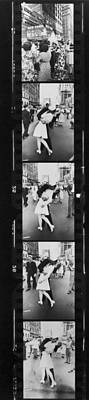 Photograph - Contact Print Of Negative Strip Showing by Alfred Eisenstaedt