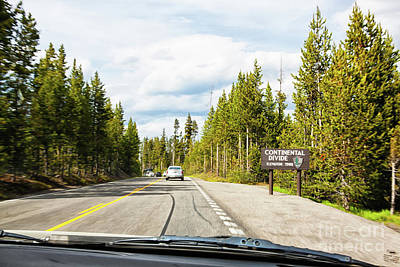 Photograph - Continental Divide In Yellowstone National Park by Tatiana Travelways