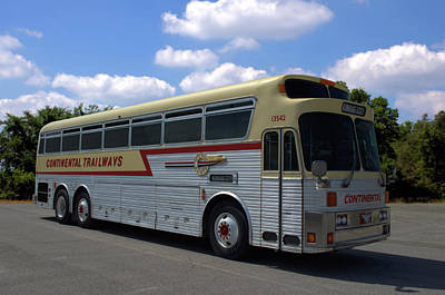 Photograph - Continental Trailways Bus  by TeeMack