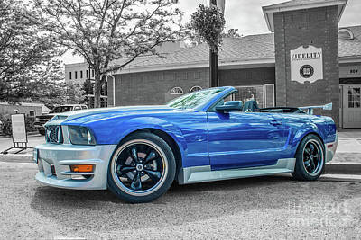 Photograph - Convertible Mustang by Tony Baca