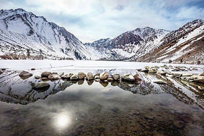 Firefighter Patents Royalty Free Images - Convict Lake in Winter Royalty-Free Image by Janis Knight