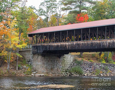 Photograph - Conway Covered Bridge 1 by Cheryl Del Toro
