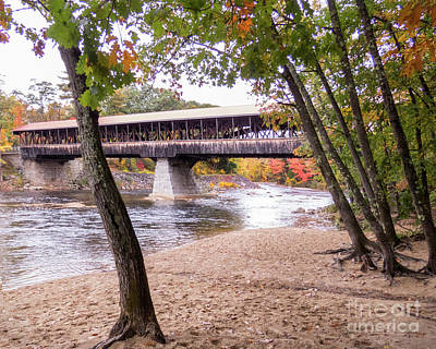Photograph - Conway Covered Bridge 2 by Cheryl Del Toro
