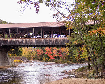 Photograph - Conway Covered Bridge 3 by Cheryl Del Toro