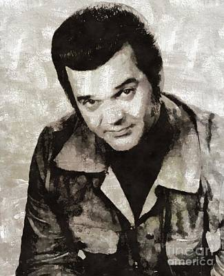 Music Paintings - Conway Twitty, Music Legend by Esoterica Art Agency