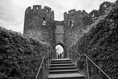 Photograph - Conwy Castle Black And White  by John McGraw