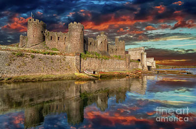 Photograph - Conwy Castle Sunset by Adrian Evans