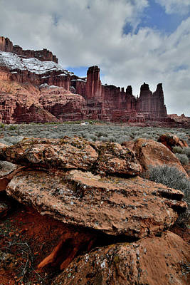 Photograph - Cookie-like Boulders Near Fisher Towers In Utah by Ray Mathis